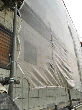 外壁工事用の覆い