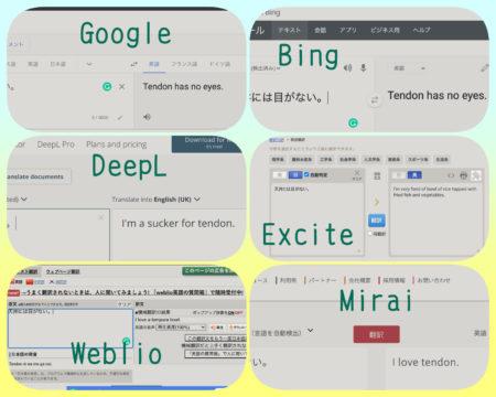 自動翻訳の比較